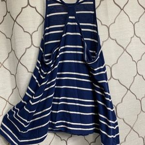 Blue and Wht striped Forever 21 top size S